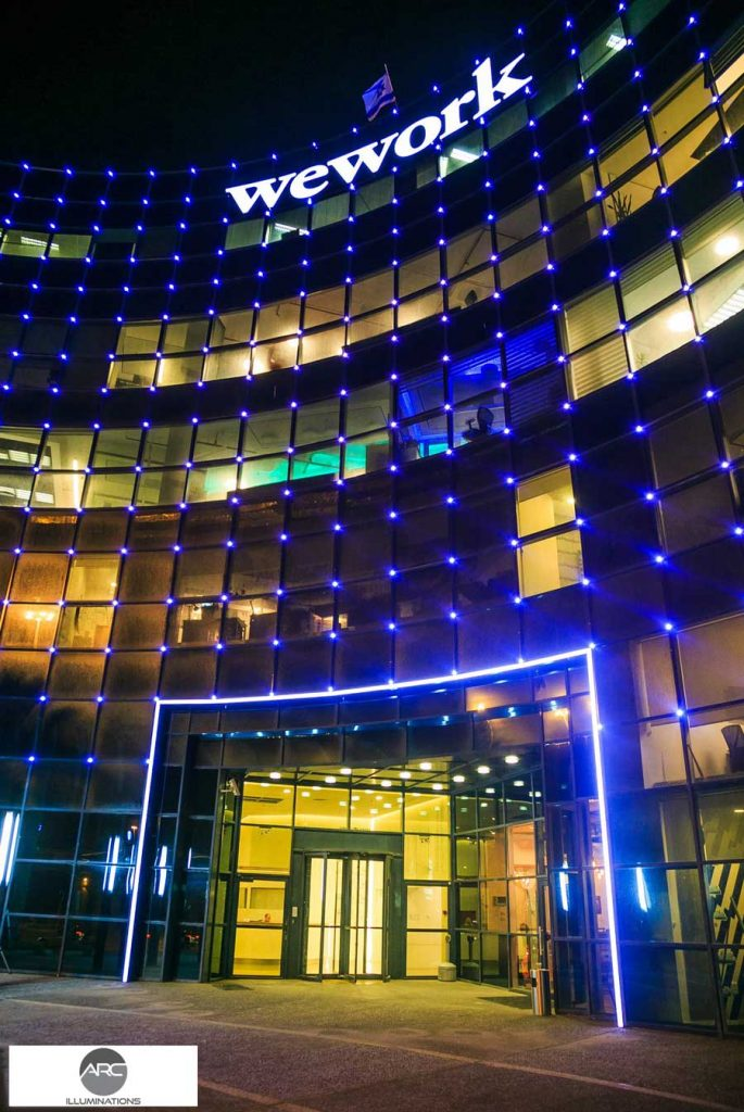 Architectural lighting a office building