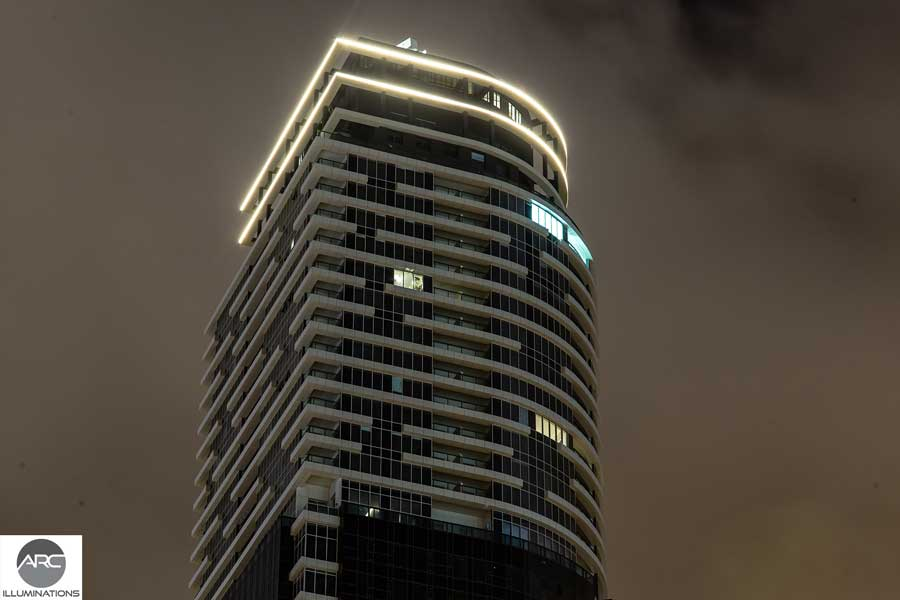 Lighting for office towers - Title lighting (3)