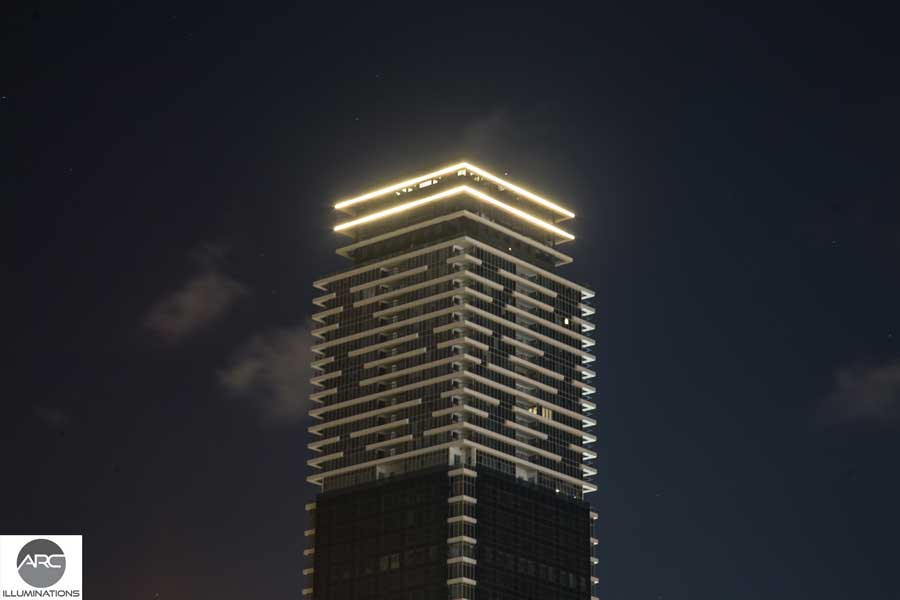 Lighting for office towers - Title lighting (4)