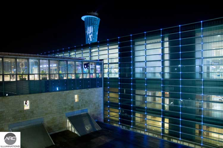 Pixel LED lighting at Terminal 1 Ben Gurion. Lighting design (2)