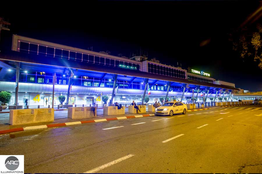 Pixel LED lighting at Terminal 1 Ben Gurion. Lighting design (3)