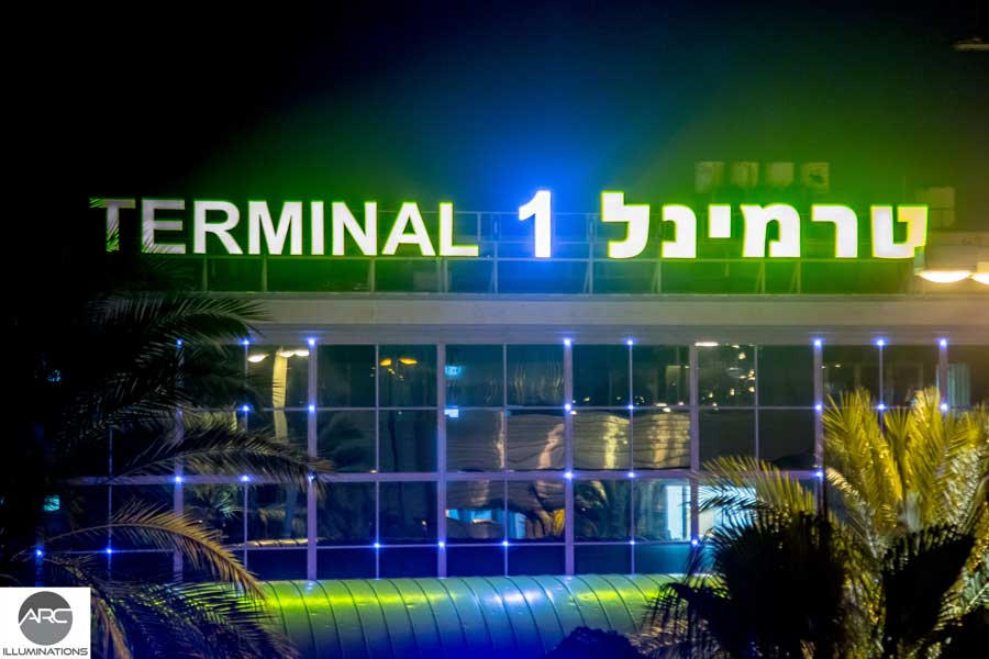 Pixel LED lighting at Terminal 1 Ben Gurion. Lighting design (4)