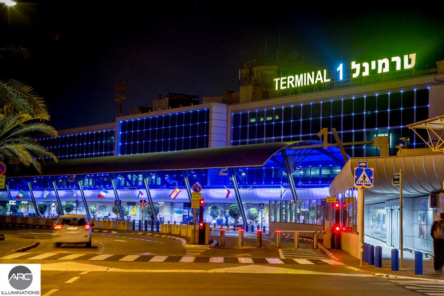 Pixel LED lighting at Terminal 1 Ben Gurion. Lighting design (6)