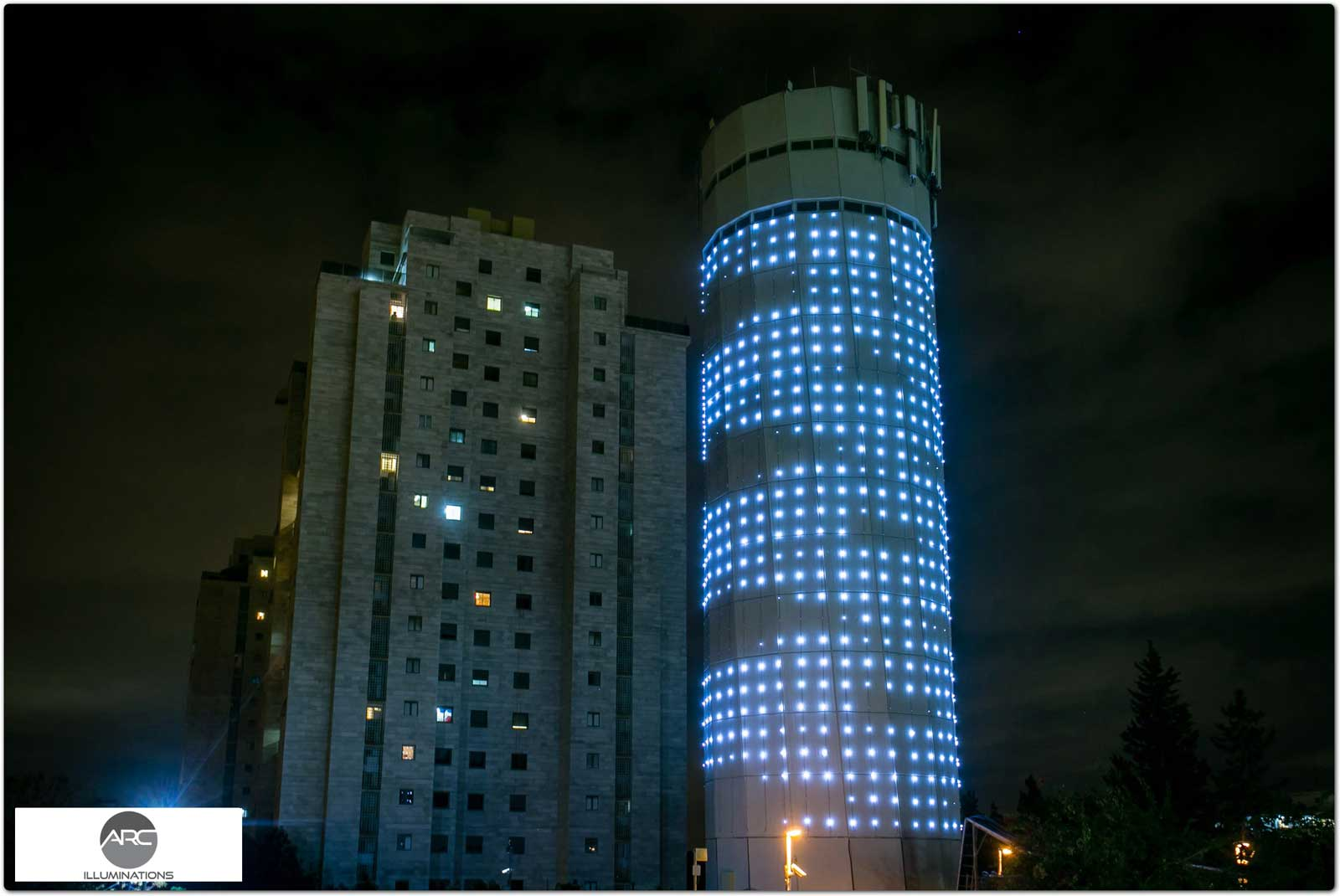 water tower lighting pixel led