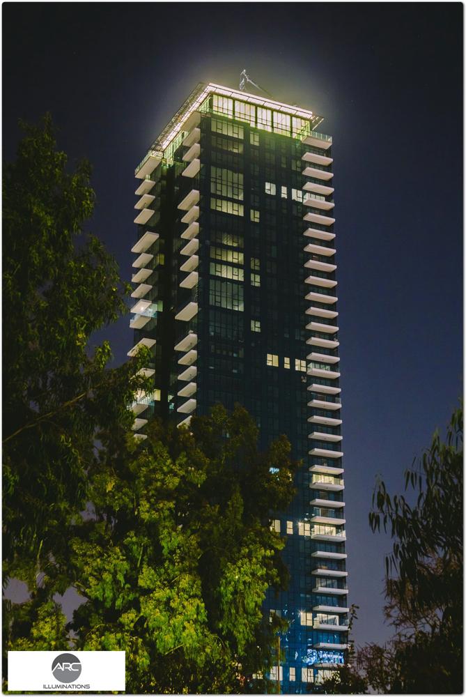 top building lighting