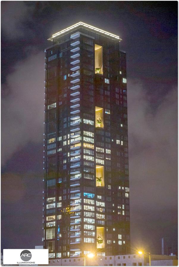 led light for building