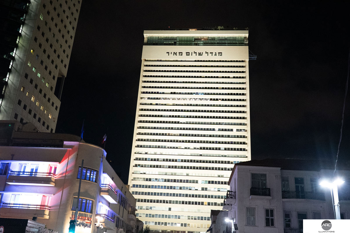 Flood lighting for a skyscraper tower (9)