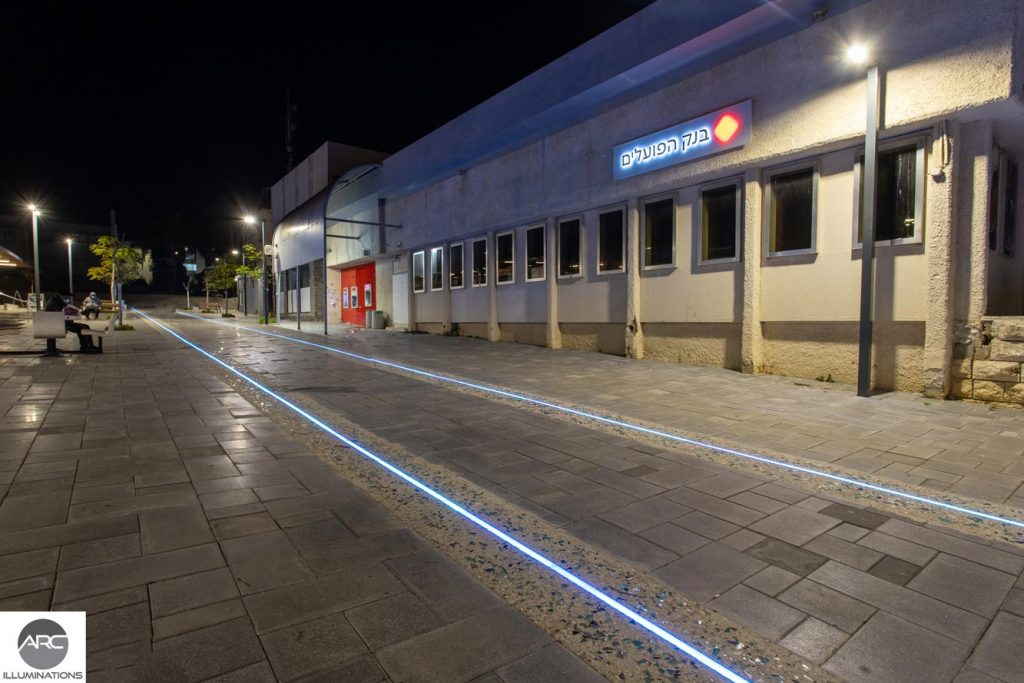 Recessed lighting for the sidewalk